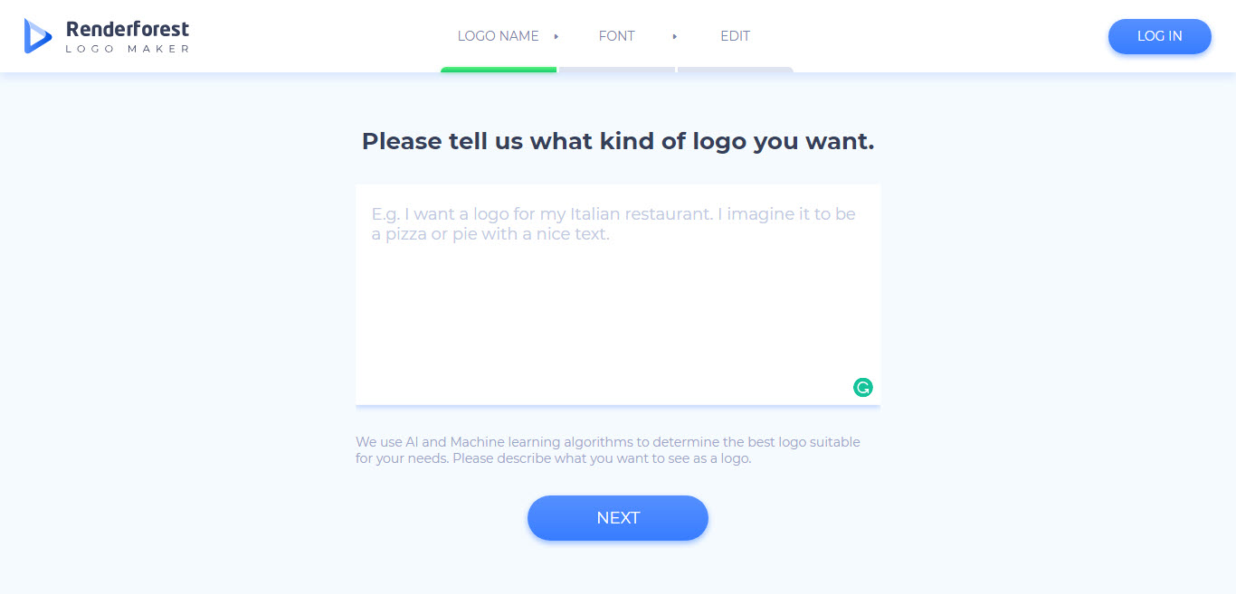 What kind of logo you want Renderforst Logo Maker