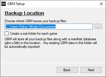 Game Backup Monitor Save Location