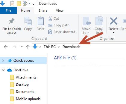 Copy path in Windows