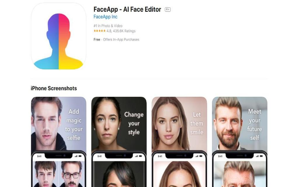 FaceApp on Apple App Store