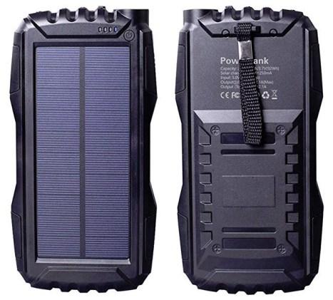 Friengood Solar Charger, Portable 25000mAh Solar Power Bank
