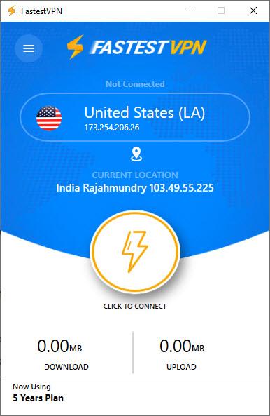 FatestVPN App UI