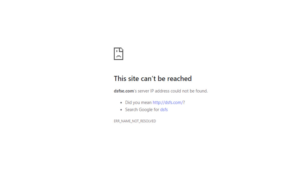 How to fix This Site Can't Be Reached Chrome Error