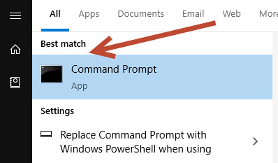 Opening command prompt