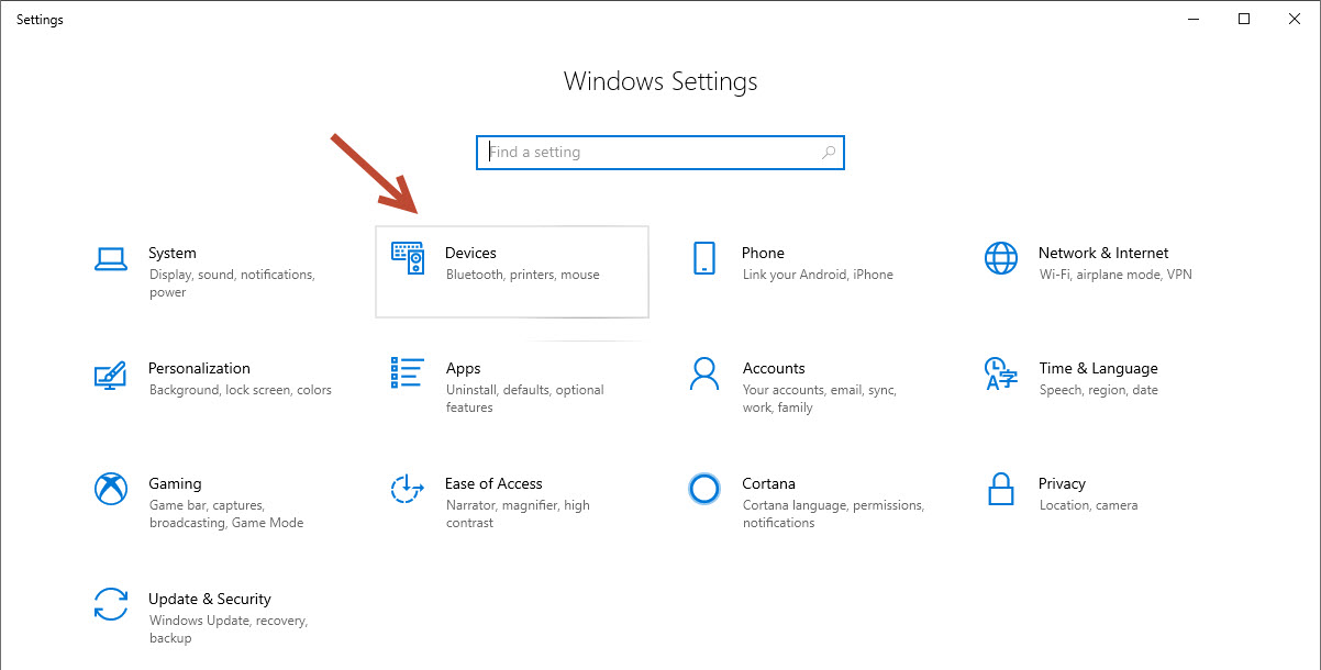 Windows Settings-Devices