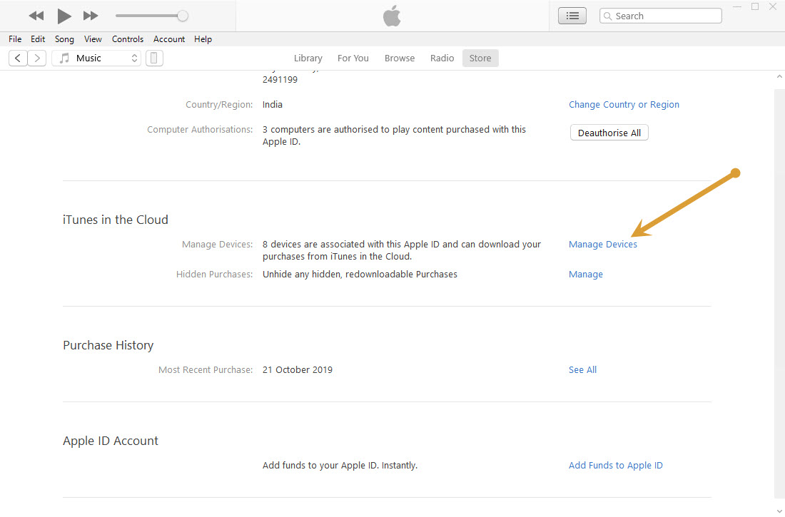 iTunes in the cloud option in iTunes