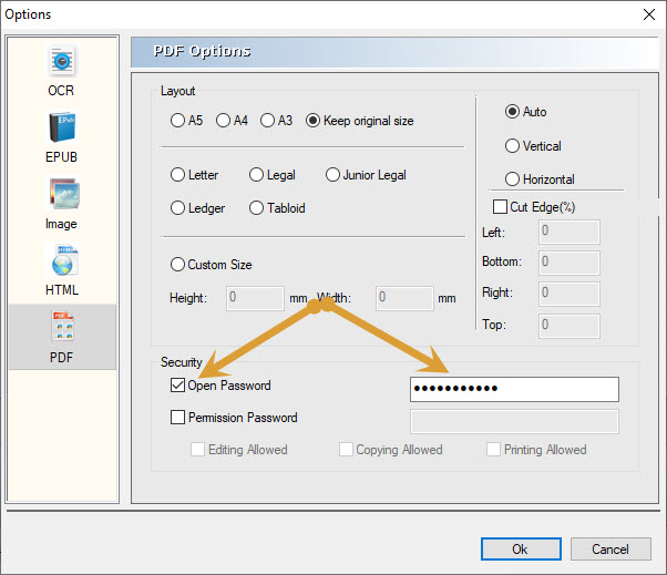 paswword selecting option in PDFMate PDF Converter