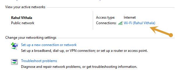 Active Internet connection