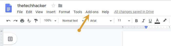New document add-on option