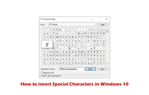 How to insert Special Characters in Windows 10