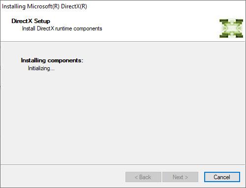 Instalation of DirectX