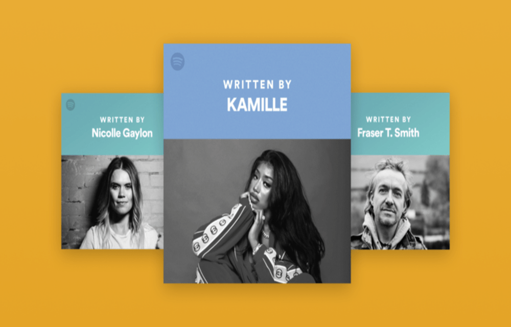 Spotify songwriters page