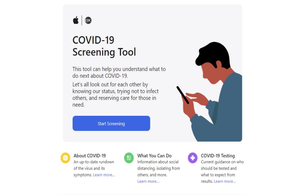 Apple Covid-19 Screening Online Tool