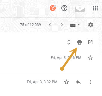 Print option in Gmail