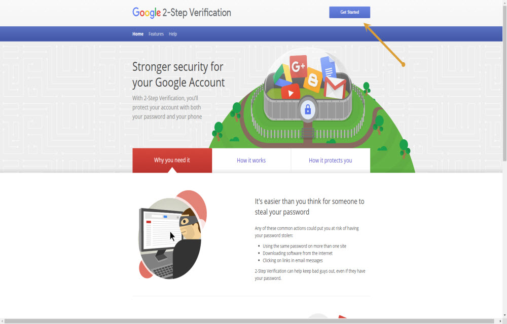 Google Home 2-Factor Authentication Page