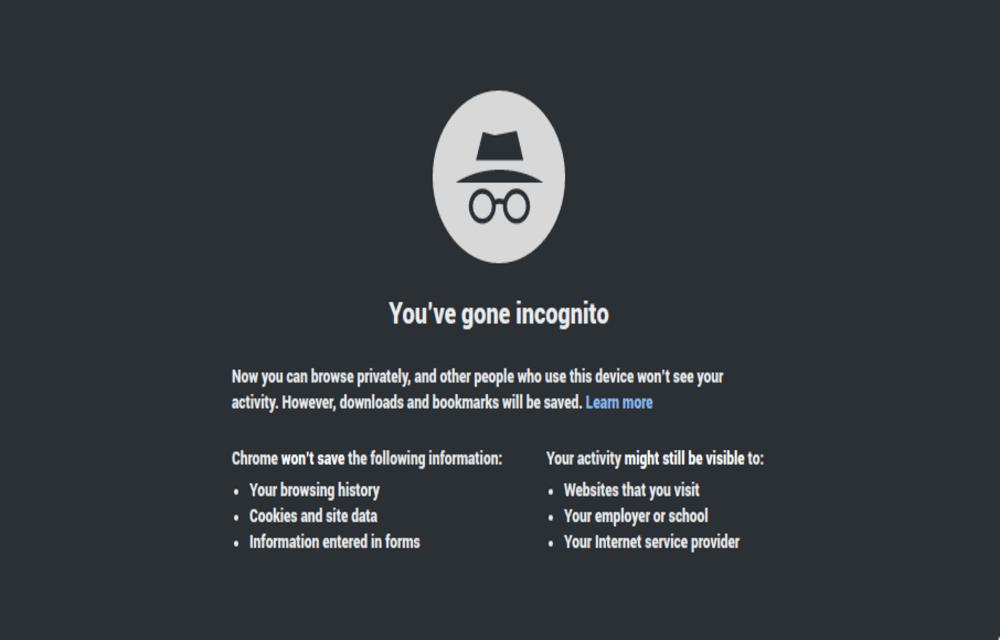 Google incognito mode