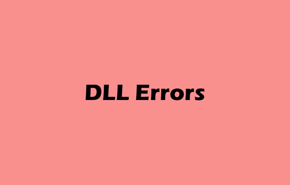 DLL error fixes on Windows 10