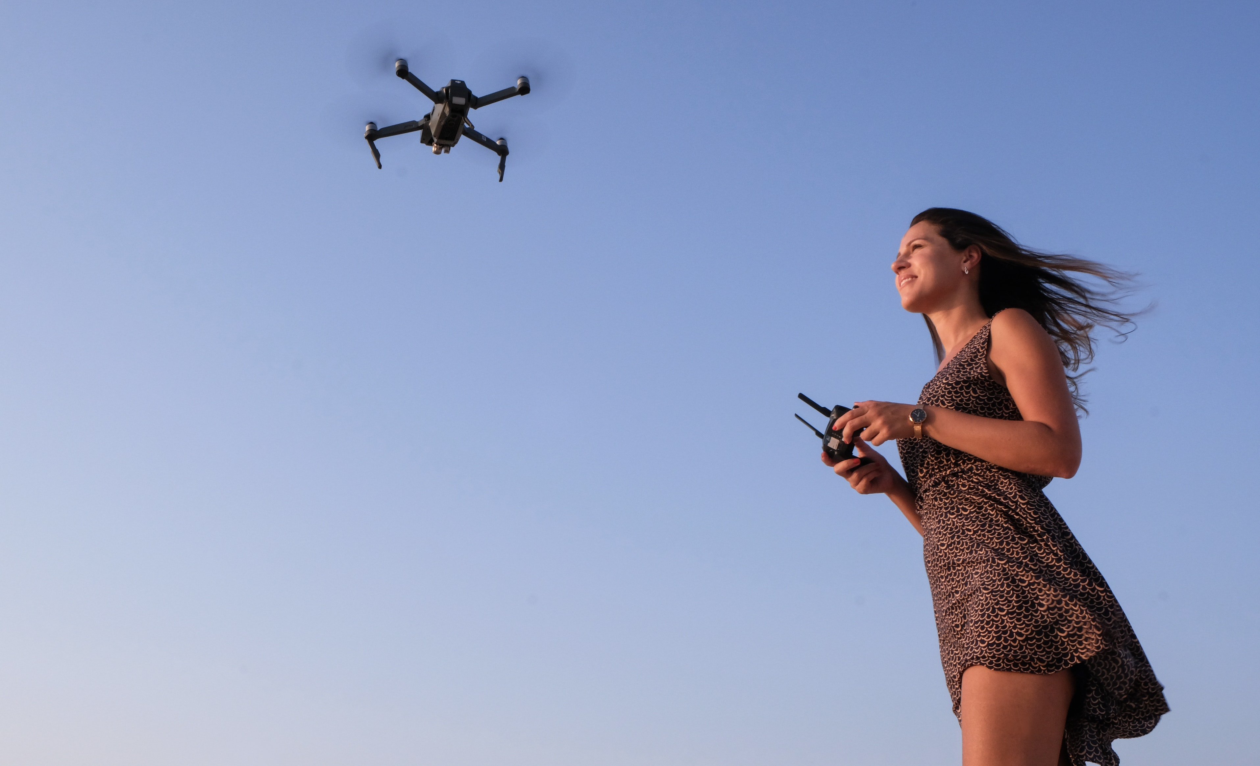 How do drones follow you?
