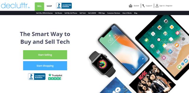 sell tech online - decluttr