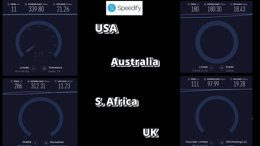 speedify VPN speed summary
