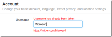 Twitter -change your username invalid username