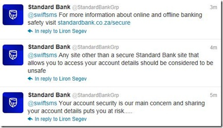 Standard Bank reaction to 22seven