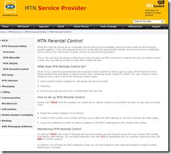 MTN Parent control system