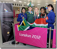 SA Teams arrived in London for 2012 Olympics