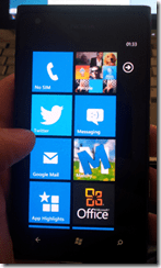 Nokie Lumia 900 - tiles