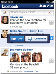 Facebook 3.3 - Look and feel
