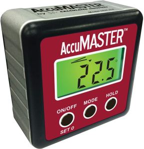 Calculated Industries 7434 AccuMASTER 2-in 1 Magnetic Digital Level and Angle Finder
