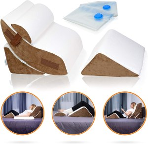 Lunix Orthopedic Wedge Reading Pillow Bed Set
