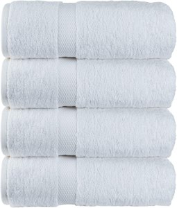 Luxury Classic White Bath Towel Large