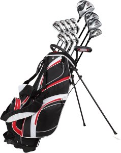 PreciseGolf Co. 18 Piece Men Complete Golf Club Package Set