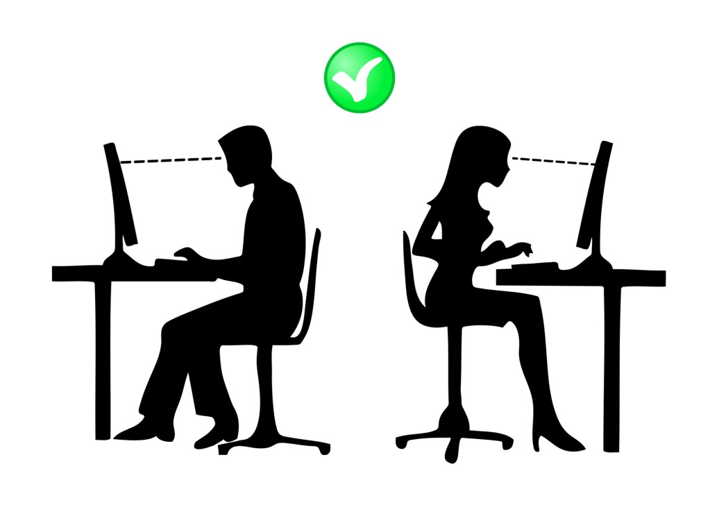 Right posture computer stand