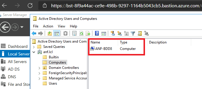 Computer Account in Active Directory