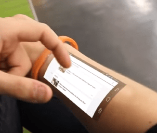 Cicret Bracelet Like A Tablet But On Your Skin