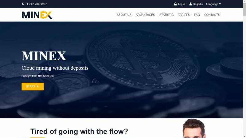 minex.world homepage