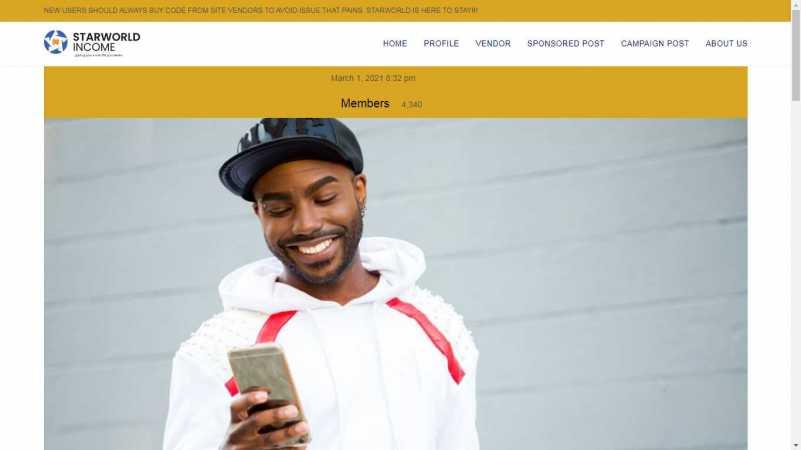 starworld homepage