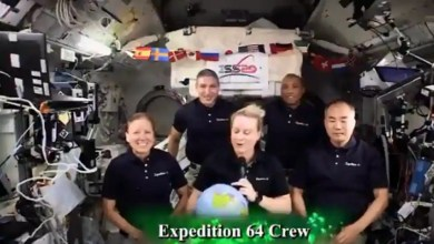Astronauts aboard ISS recreate Times Square ball drop tradition with a twist. Watch – it s viral
