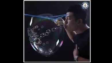 Man blows 783 small bubbles inside a big one. Watch record creating video – it s viral