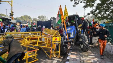 Farmers' agitation: Death of a protesting farmer due to overturning of a tractor