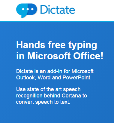 Microsoft Announces Dictation Software for Office