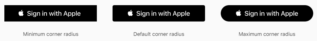 Apple Wants Their Sign in Button above All Others and Larger