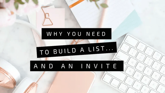 Why you need to build a list…