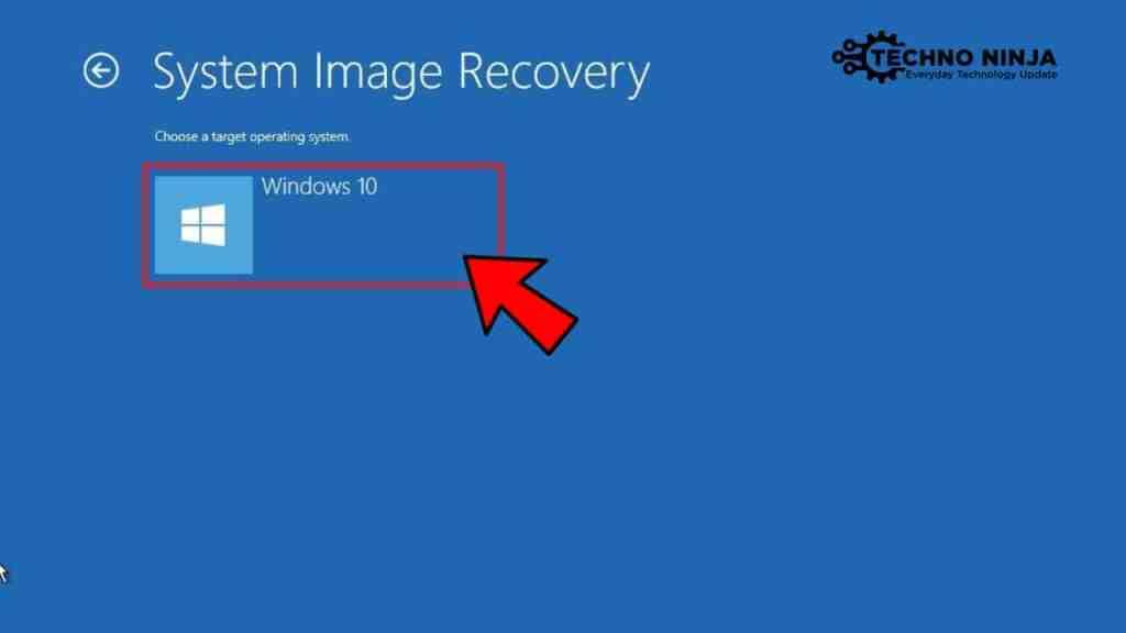 Click on Windows 10 Option