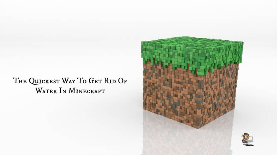 The Quickest Way To Get Rid Of Water In Minecraft
