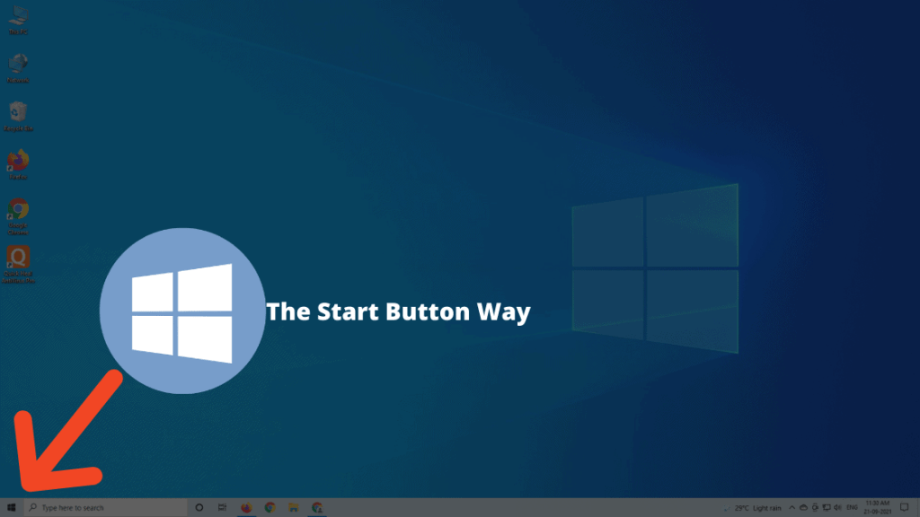 The Start Button Way to Reboot Dell Laptop