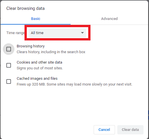 Clear Google History on a Computer step 3