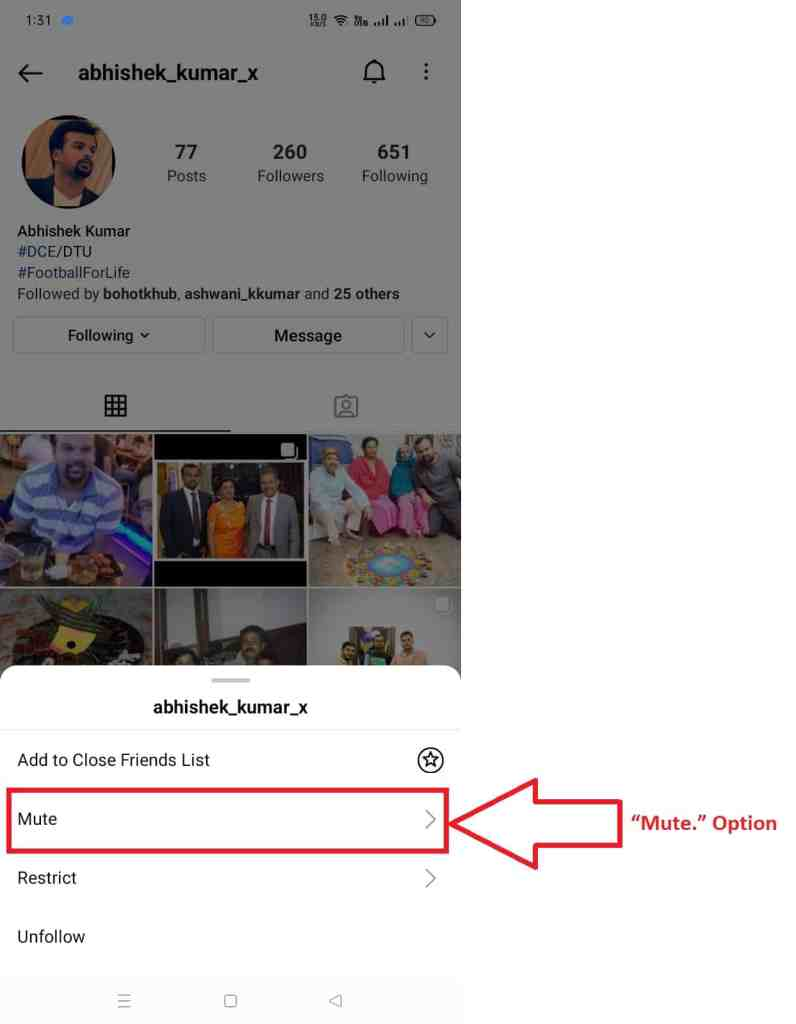 How to Mute Someone's On Instagram from the Profile